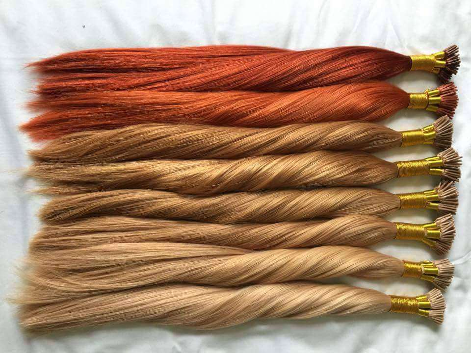 Rock Locks Hair extensions pre bonded extensions in red hair, blonde hair and brunette with ombre hair extensions too