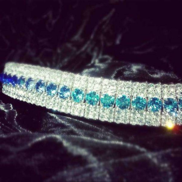 stunning blue ombre fade browband handmade by ponycouture this stunning crystal bling browband features shades of blue and is a best quality browband from the UKs top browband brand