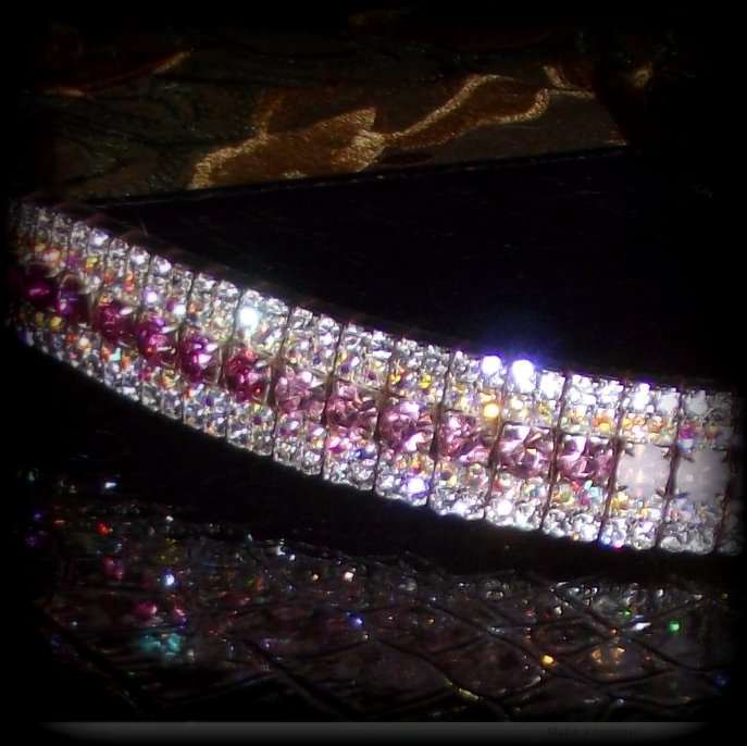 Ombre Fade Browbands. Ceter row of pink shades of preciosa crystals on sedgwick English leather, with four additional rows of crystals, this stunning bling dressage browband will outshine the rest and look stunning on any horse. PonyCouture specialize in handmade Dressage and Showjumping Crystal Browbands and best quality crystal browbands.