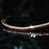 Siam and clear bling browband from PonyCouture made on sedgwick English leather is a tasteful bling browband handmade in the uk