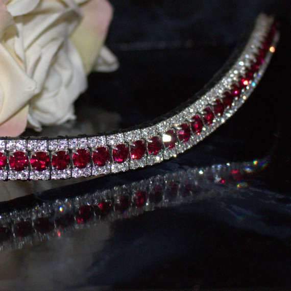 Crystal Bling browbands and dressage browbands handmade by PonyCouture for pferd and dressur