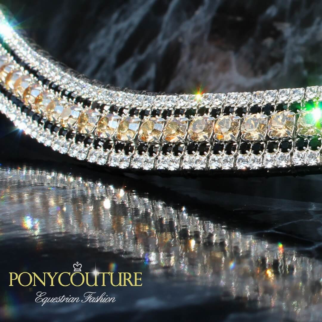 handmade English browband crystal browbands