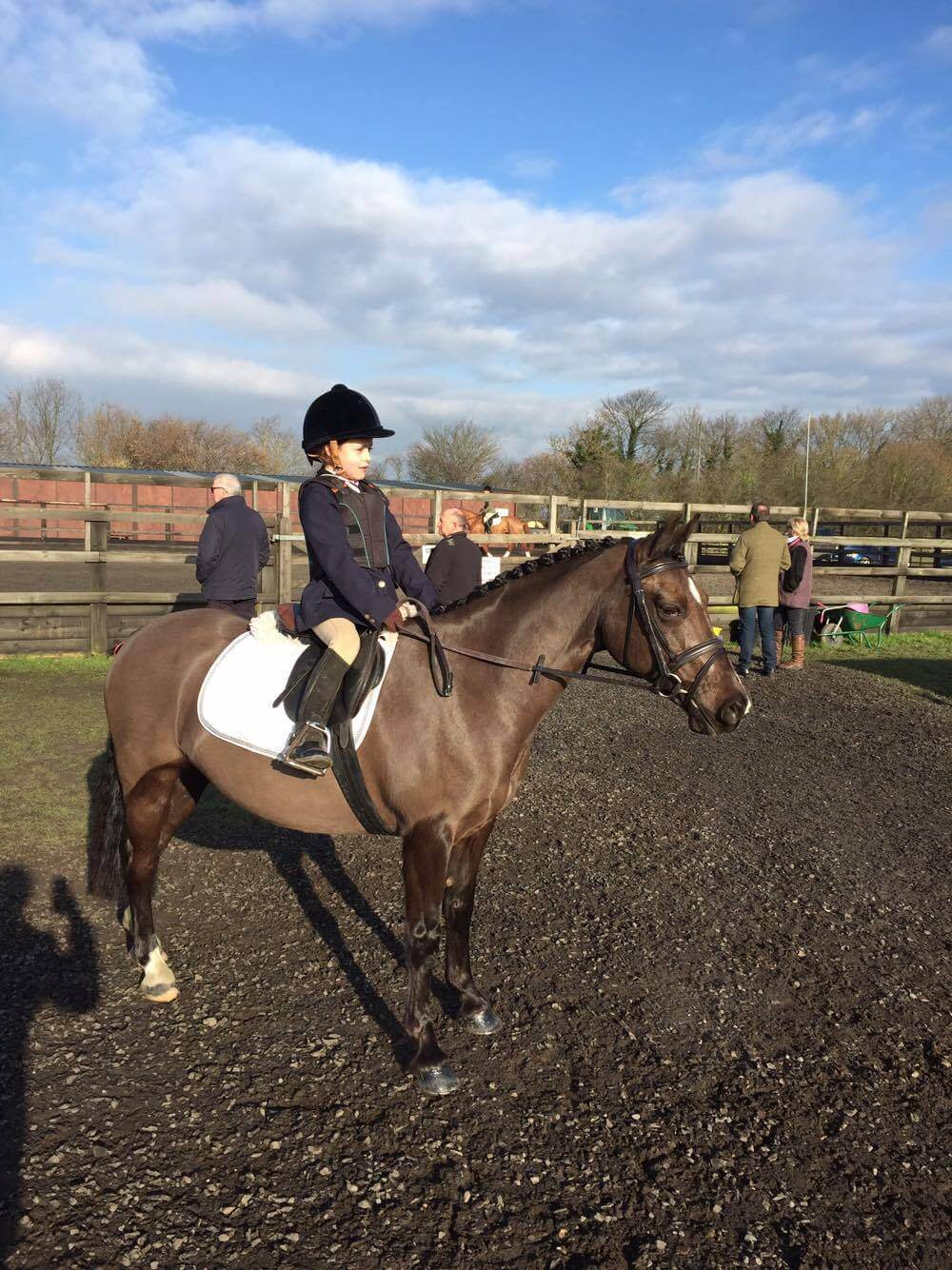 Maisie Farnham with Pony Magic at Manor Grange Combine Training