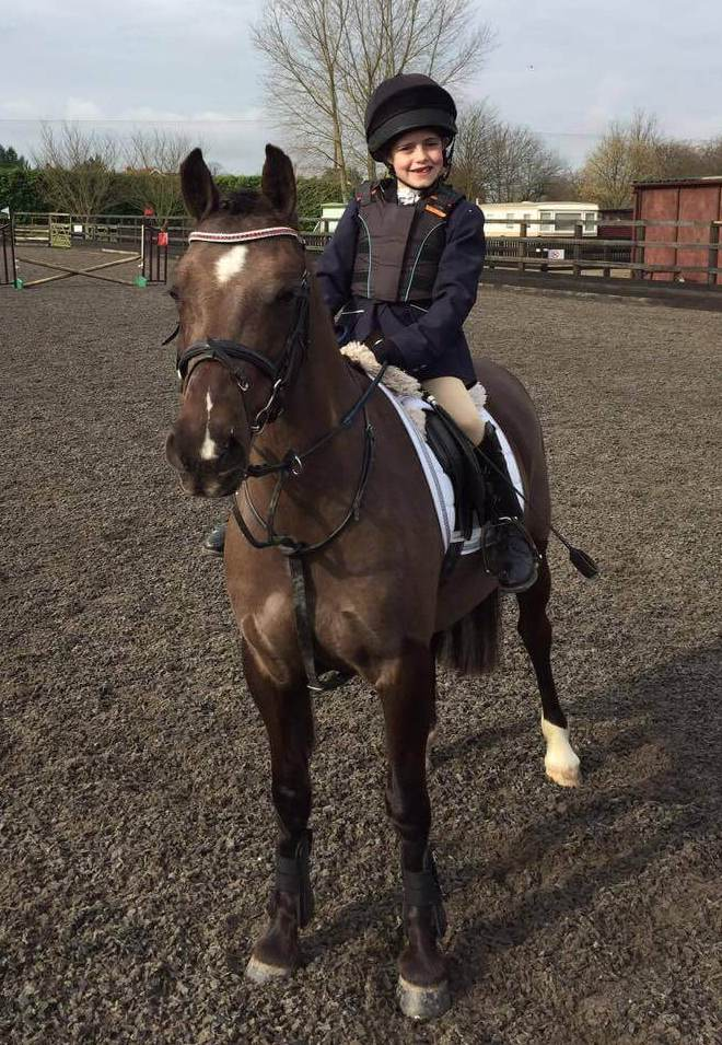Maisie Farnham and Pony Magic sporting their luxury, handmade Crystal browband from PonyCouture's range of bespoke crystal browbands