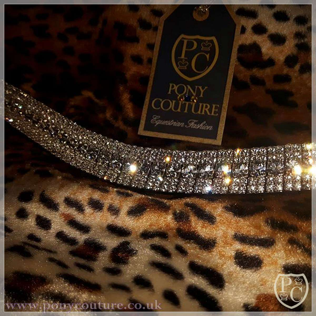 PonyCouture Amazbling Clear Crystal Diamante Bling Browband