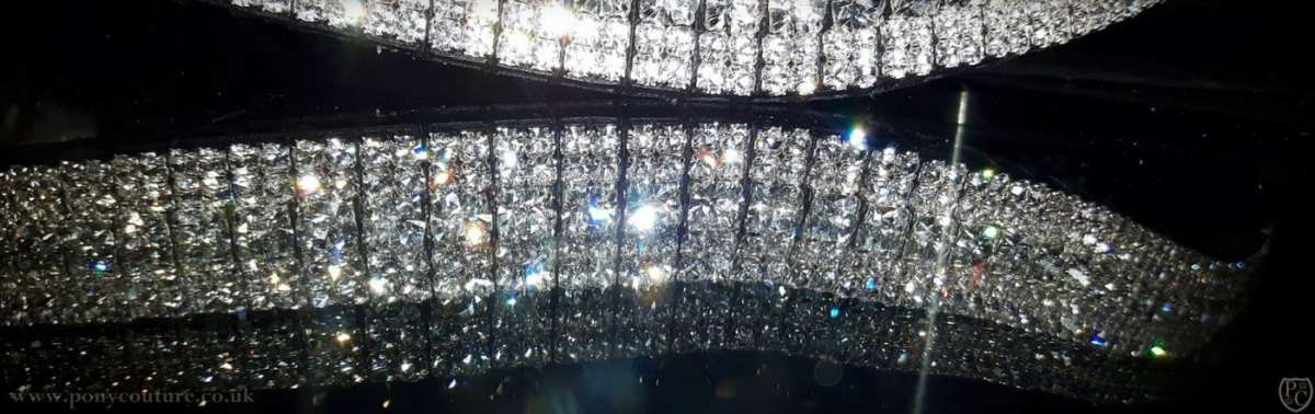 Clear Crystal Diamante Bling Browband – Amazbling!