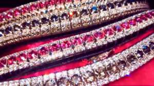Stunning luxury crystal bling browbands by PonyCouture