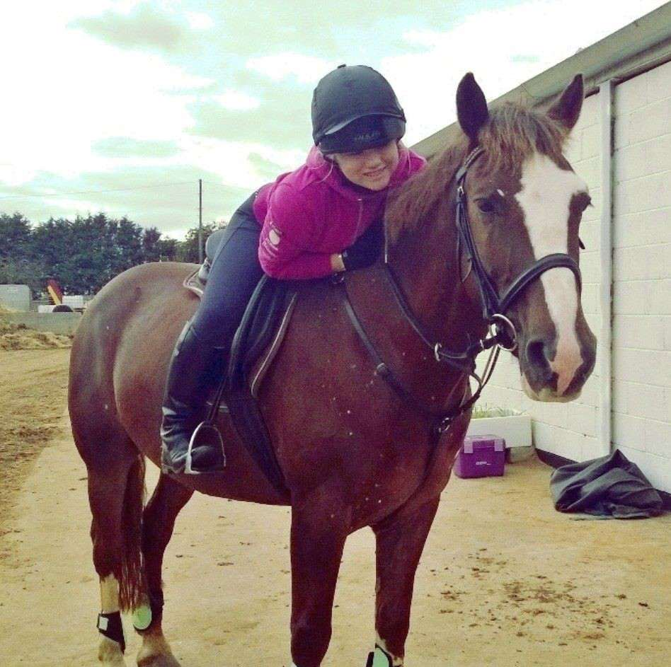 equestrian blogger ruth walker riding her 15.1hh chestnut gelding Sebastian.