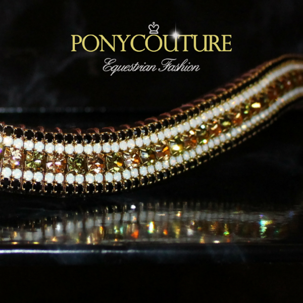 Elegant Antique style Crystal browbands from PonyCouture limited edition crystal browbands.