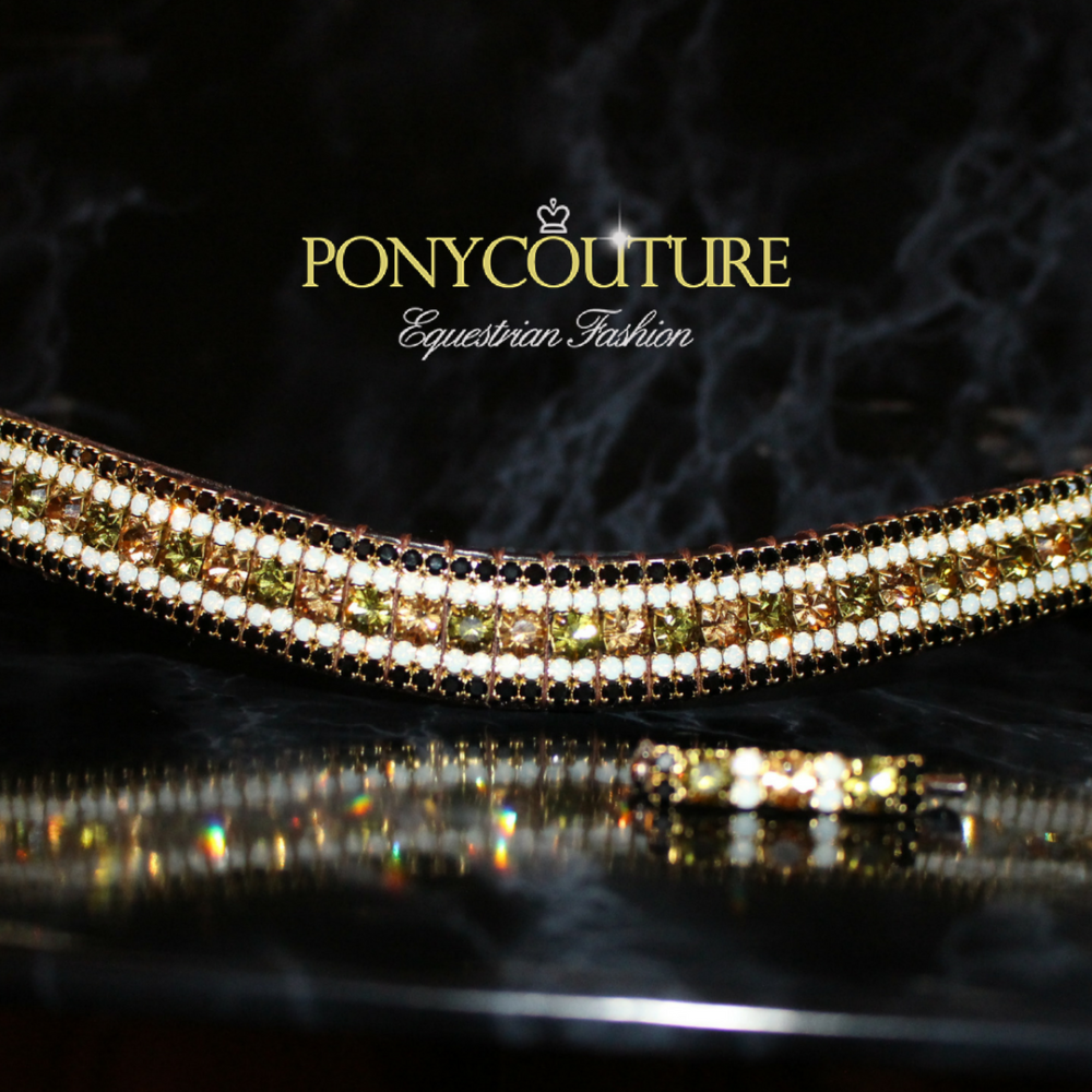 Antique style, limited edition crystal browbands from PonyCouture suitable for dressage, dressur, showjumping, pferd, horses, ponies, cross country and even happy hacking!