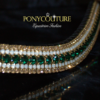 Green browband from PonyCouture's range of bespoke crystal browbands handmade on Sedgwick leather and with genuine Preciosa crystals this beautiful bling browband features an Emerald with opals and golden honey crystals.