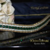 Classy antique look browbands with emerald, opal and golden honey preciosa crystals on this beautiful handmade crystal browband. PonyCouture specialize in classy bling browbands for horses and beautiful crystal browbands for ponies too.