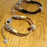Horse Hair bracelets with pandora style charms hand made in the UK