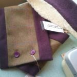Tweed Scarf and Earwarmer sets