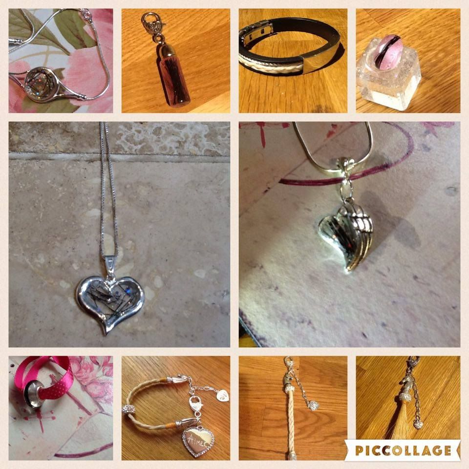 Horse hair jewelry and bracelets and keepsakess made from your horses or pet hair.