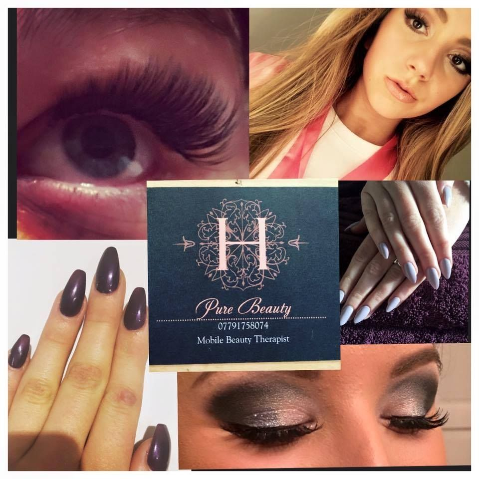 Eyelash extensions and acrylic nail extensions along with gel nails by Pure Beauty by Hannah based in north Lincolnshire. Hannah is a full qualified beauty therapist