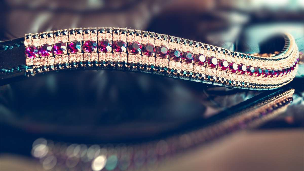 buy luxury crystal bling browbands at PonyCouture